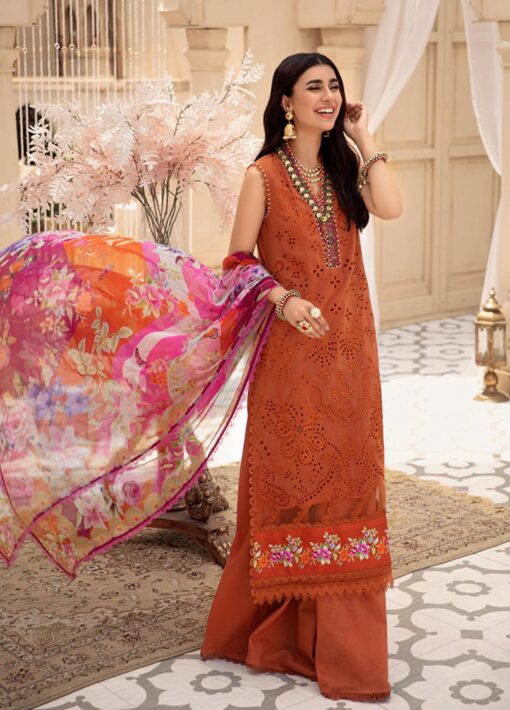 Noor by Sadia Asad Embroidered Lawn Unstitched 3 Piece Suit 2021 01 – Summer Collection