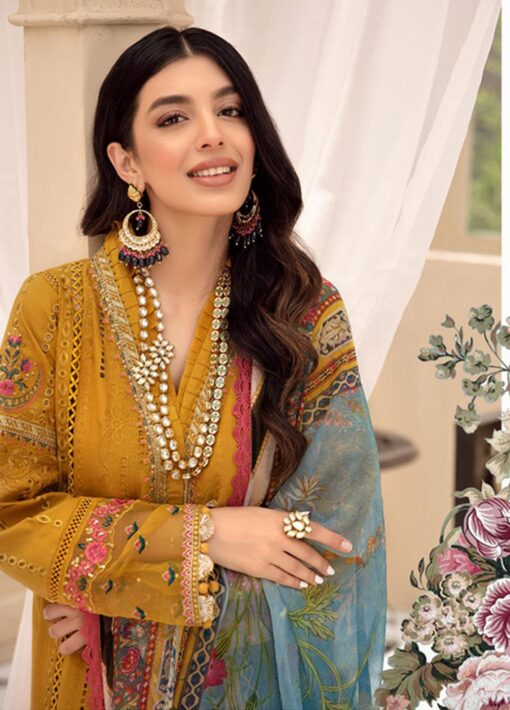 Noor by Sadia Asad Embroidered Lawn Unstitched 3 Piece Suit 2021 02 – Summer Collection