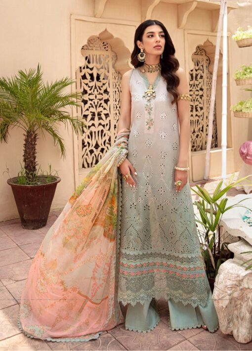 Noor by Sadia Asad Embroidered Lawn Unstitched 3 Piece Suit 2021 03 – Summer Collection