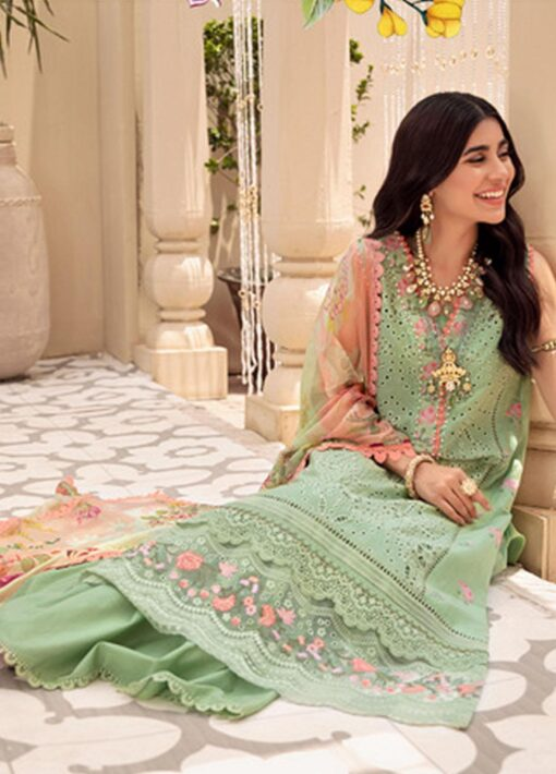 Noor by Sadia Asad Embroidered Lawn Unstitched 3 Piece Suit 2021 04 – Summer Collection