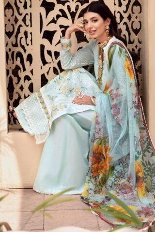 Noor by Sadia Asad Embroidered Lawn Unstitched 3 Piece Suit 2021 09 – Summer Collection