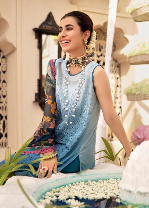 Noor by Sadia Asad Embroidered Lawn Unstitched 3 Piece Suit 2021 12 – Summer Collection