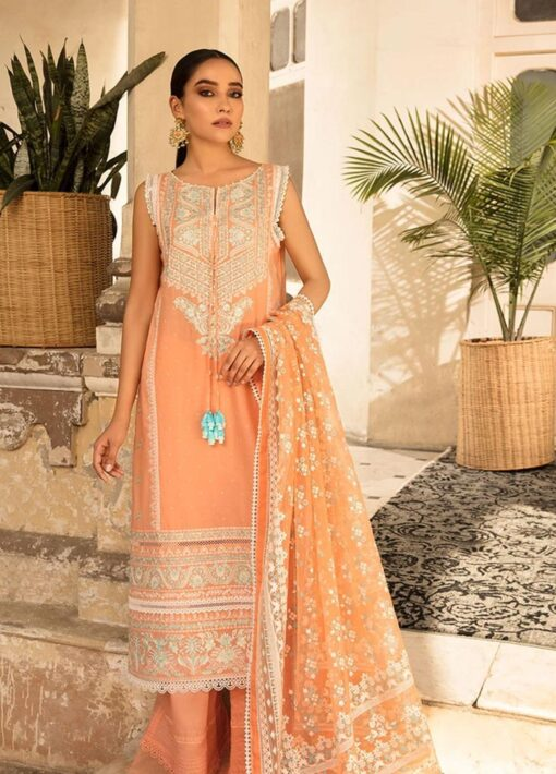 Vital by Sobia Nazir Embroidered Lawn Unstitched 3 Piece Suit 2021 01 A – Summer Collection