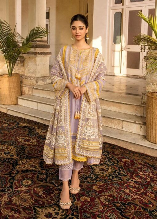 Vital by Sobia Nazir Embroidered Lawn Unstitched 3 Piece Suit 2021 01 B – Summer Collection