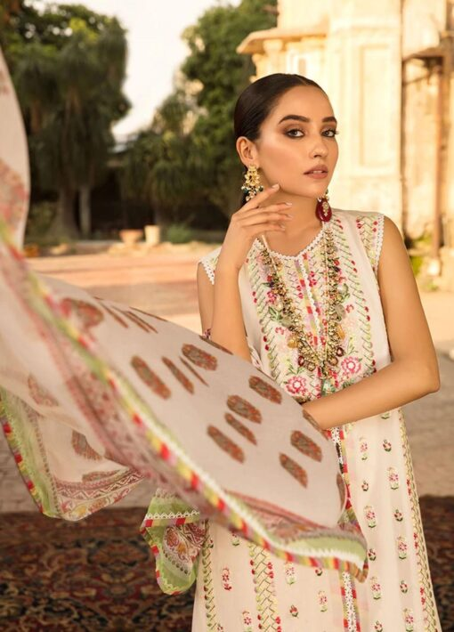 Vital by Sobia Nazir Embroidered Lawn Unstitched 3 Piece Suit 2021 02 B – Summer Collection