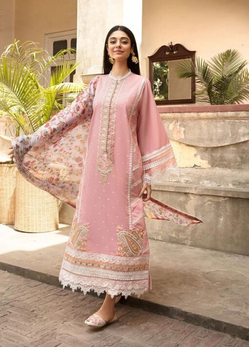 Vital by Sobia Nazir Embroidered Lawn Unstitched 3 Piece Suit 2021 03 A – Summer Collection