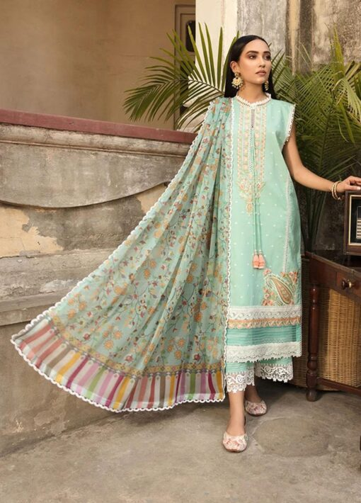 Vital by Sobia Nazir Embroidered Lawn Unstitched 3 Piece Suit 2021 03 B – Summer Collection