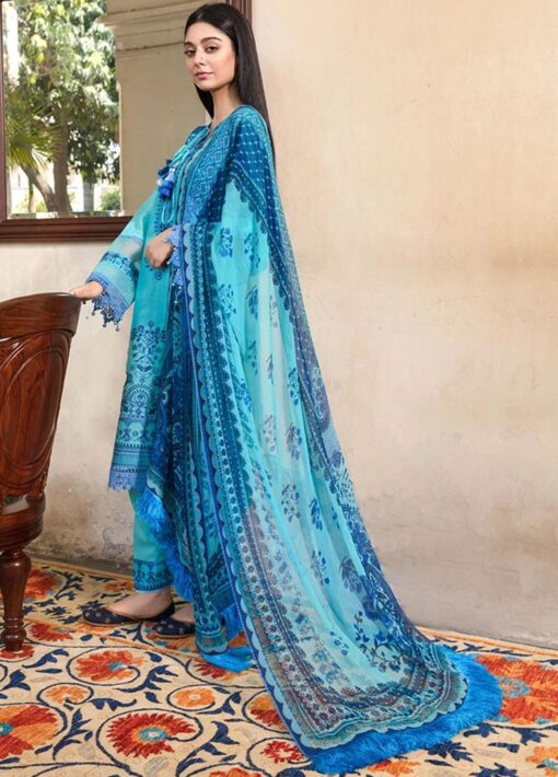 Vital by Sobia Nazir Embroidered Lawn Unstitched 3 Piece Suit 2021 04 A – Summer Collection