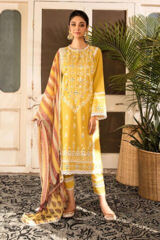 Vital by Sobia Nazir Embroidered Lawn Unstitched 3 Piece Suit 2021 05 A – Summer Collection