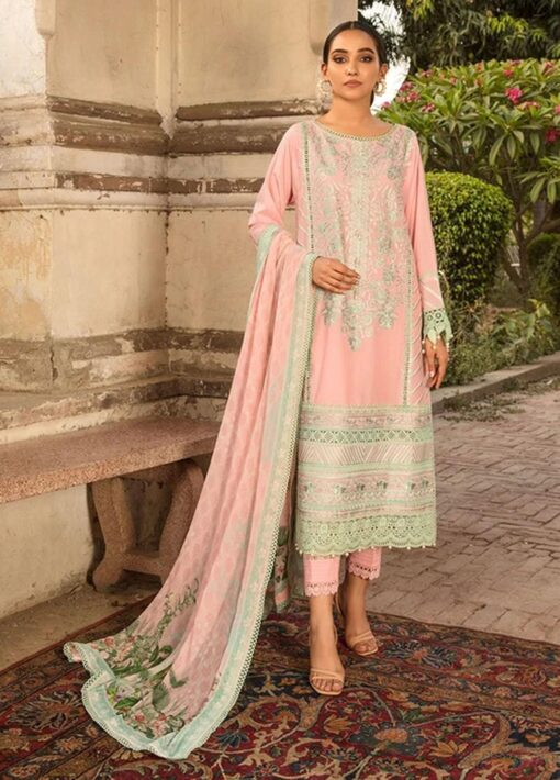 Vital by Sobia Nazir Embroidered Lawn Unstitched 3 Piece Suit 2021 06 A – Summer Collection