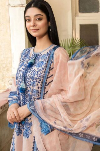 Vital by Sobia Nazir Embroidered Lawn Unstitched 3 Piece Suit 2021 06 B – Summer Collection