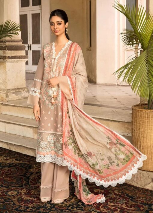 Vital by Sobia Nazir Embroidered Lawn Unstitched 3 Piece Suit 2021 07 A – Summer Collection