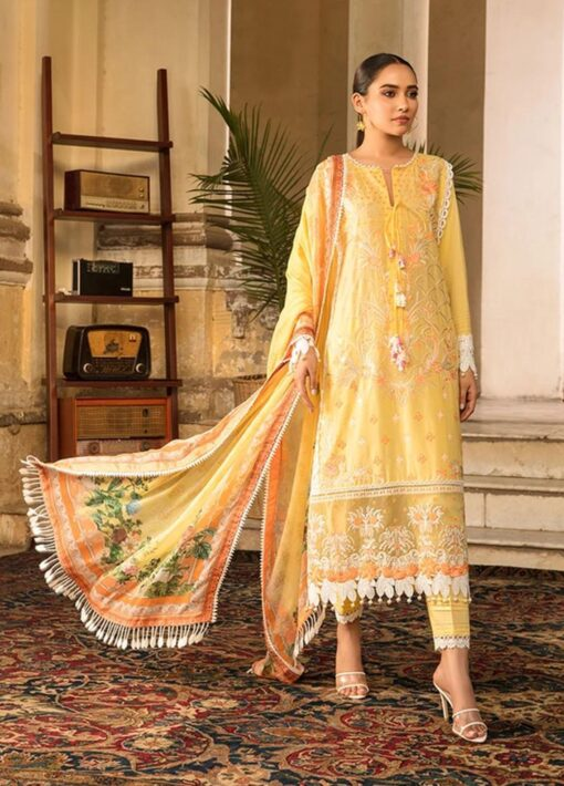 Vital by Sobia Nazir Embroidered Lawn Unstitched 3 Piece Suit 2021 07 B – Summer Collection