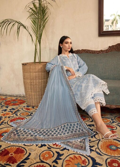 Vital by Sobia Nazir Embroidered Lawn Unstitched 3 Piece Suit 2021 08 B – Summer Collection