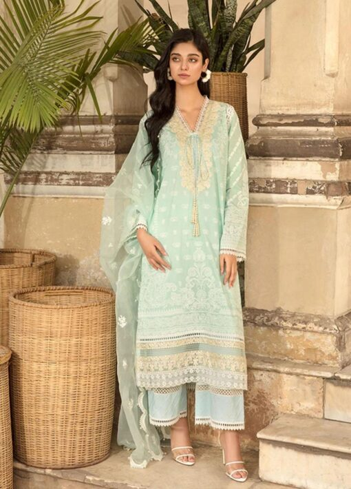Vital by Sobia Nazir Embroidered Lawn Unstitched 3 Piece Suit 2021 09 B – Summer Collection
