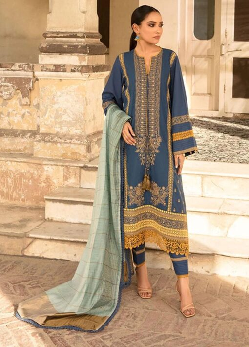 Vital by Sobia Nazir Embroidered Lawn Unstitched 3 Piece Suit 2021 10 A – Summer Collection