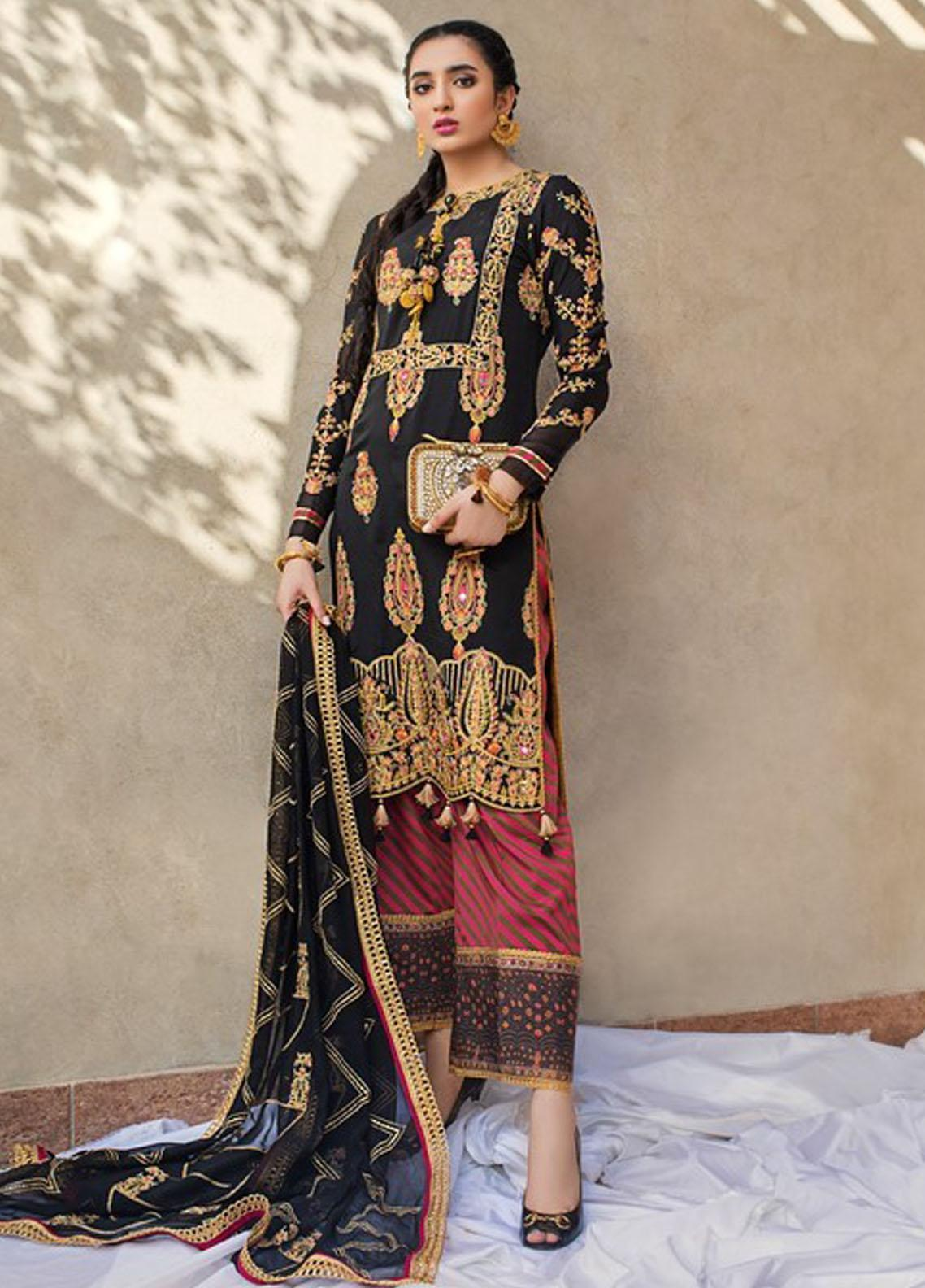 Asim Jofa Embroidered Raw Silk Suit Unstitched 3 Piece 2021 15 – Festive Collection