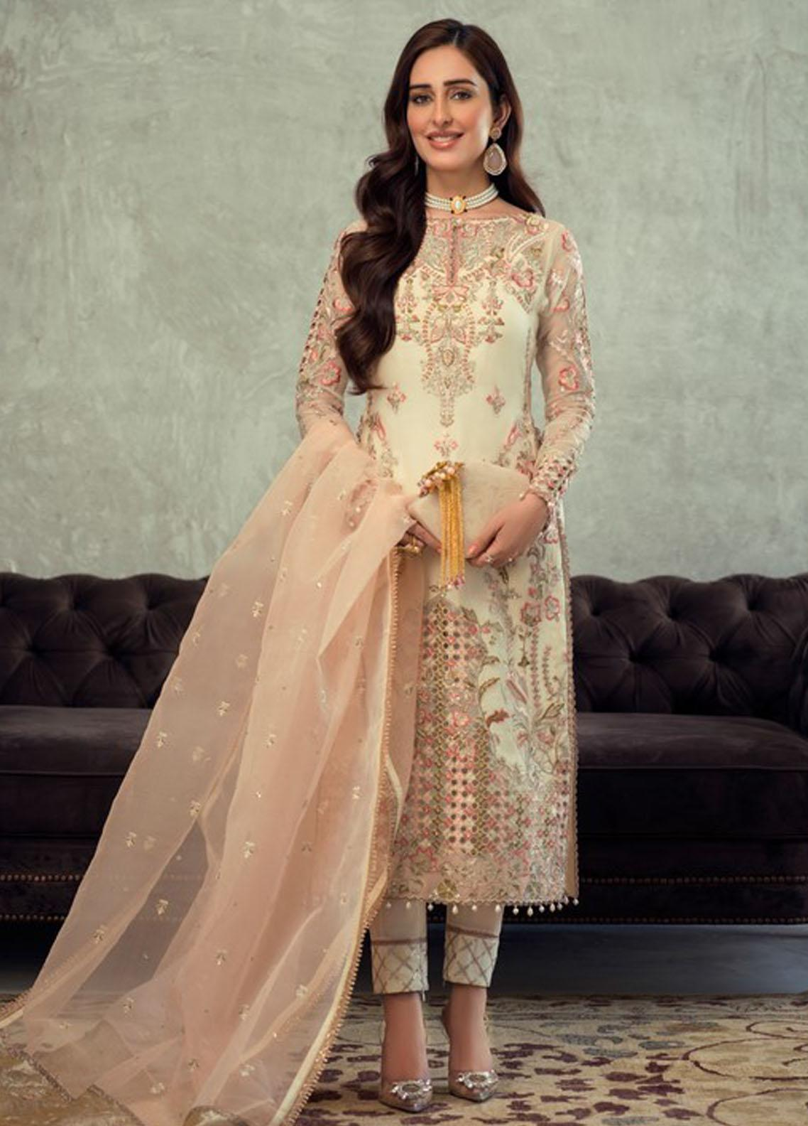 Asim Jofa Embroidered Organza Suit Unstitched 3 Piece 2021 16 – Festive Collection