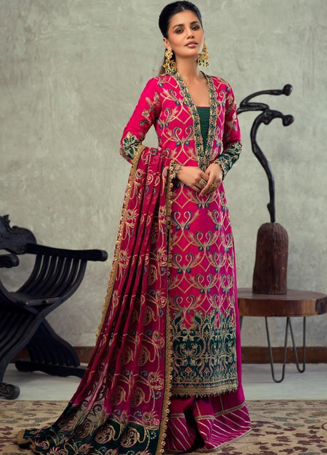 Asim Jofa Embroidered Raw Silk Suit Unstitched 3 Piece 2021 16 – Festive Collection