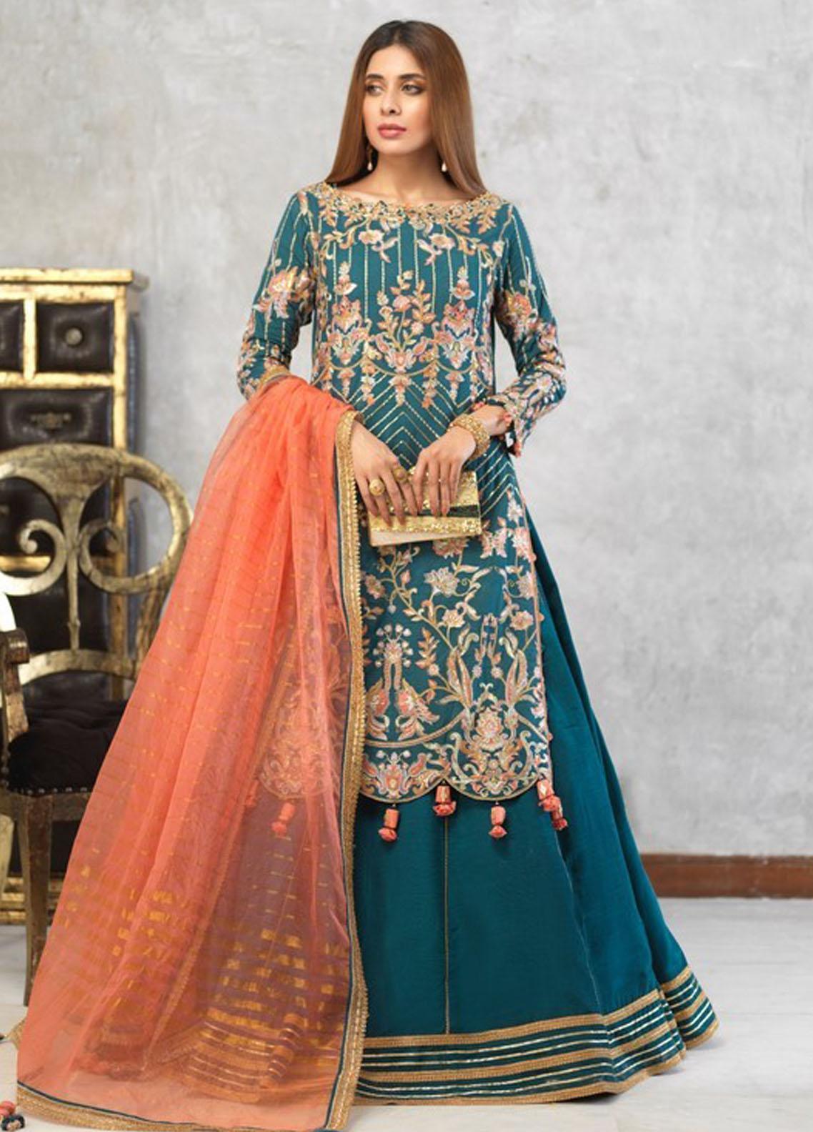 Asim Jofa Embroidered Cotton Net Suit Unstitched 3 Piece 2021 18 – Festive Collection
