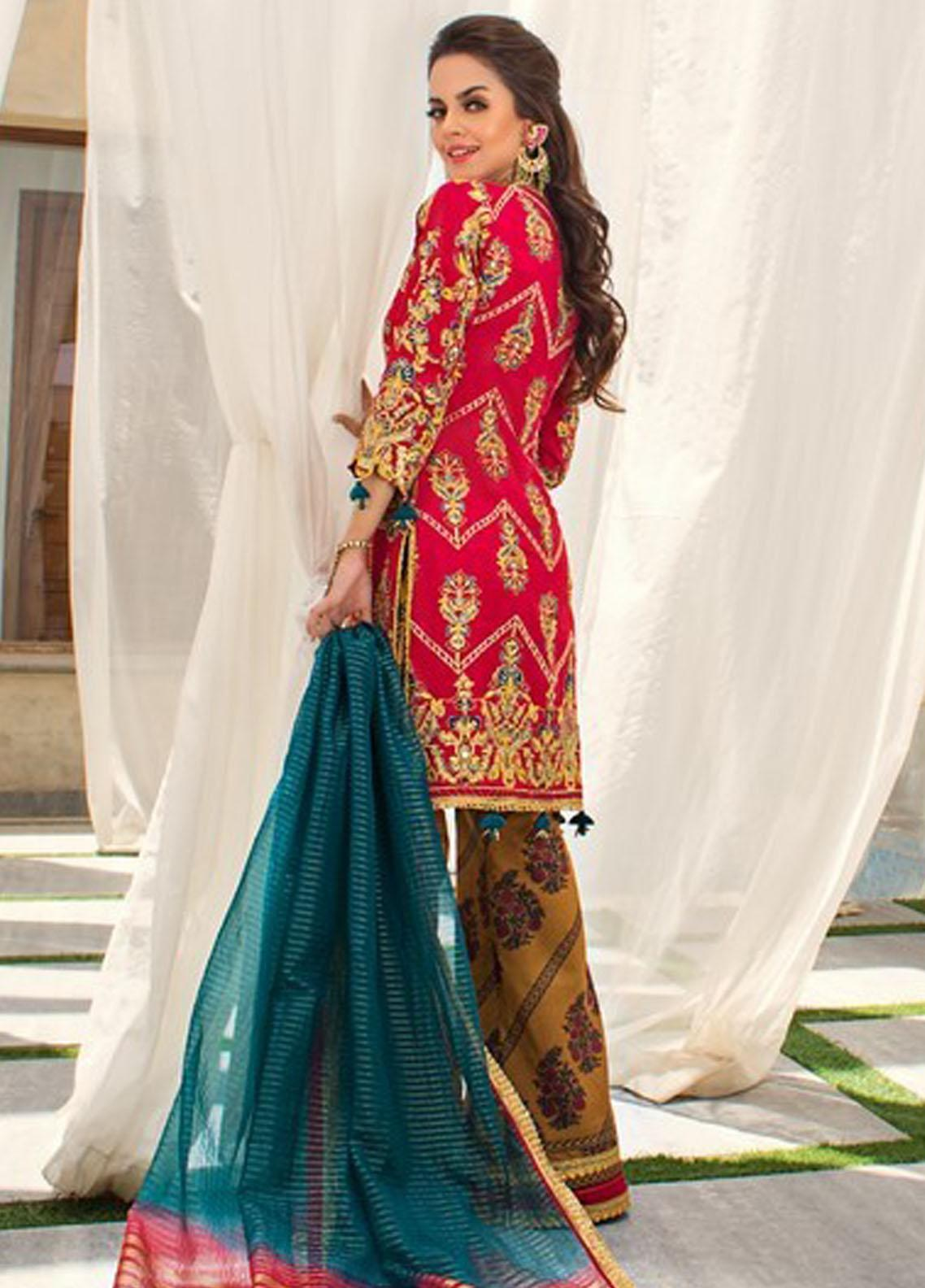 Asim Jofa Embroidered Raw Silk Suit Unstitched 3 Piece 2021 20 – Festive Collection