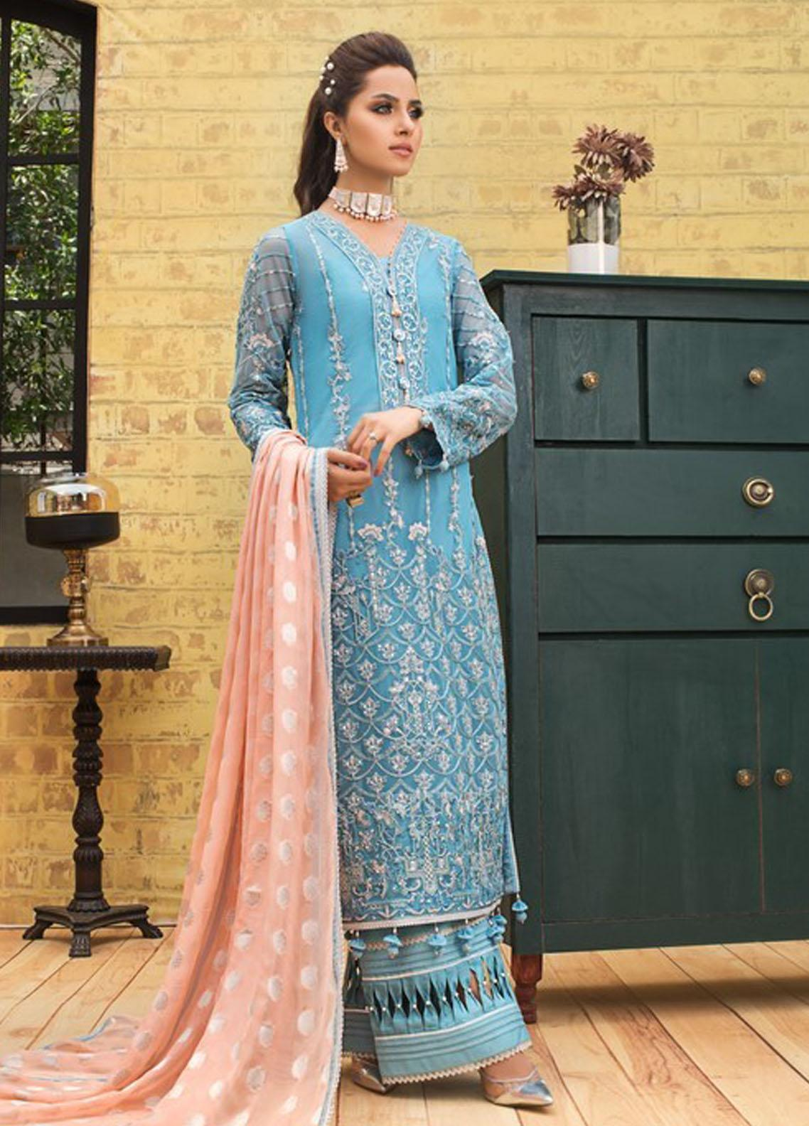 Asim Jofa Embroidered Net Suit Unstitched 3 Piece 2021 21 – Festive Collection