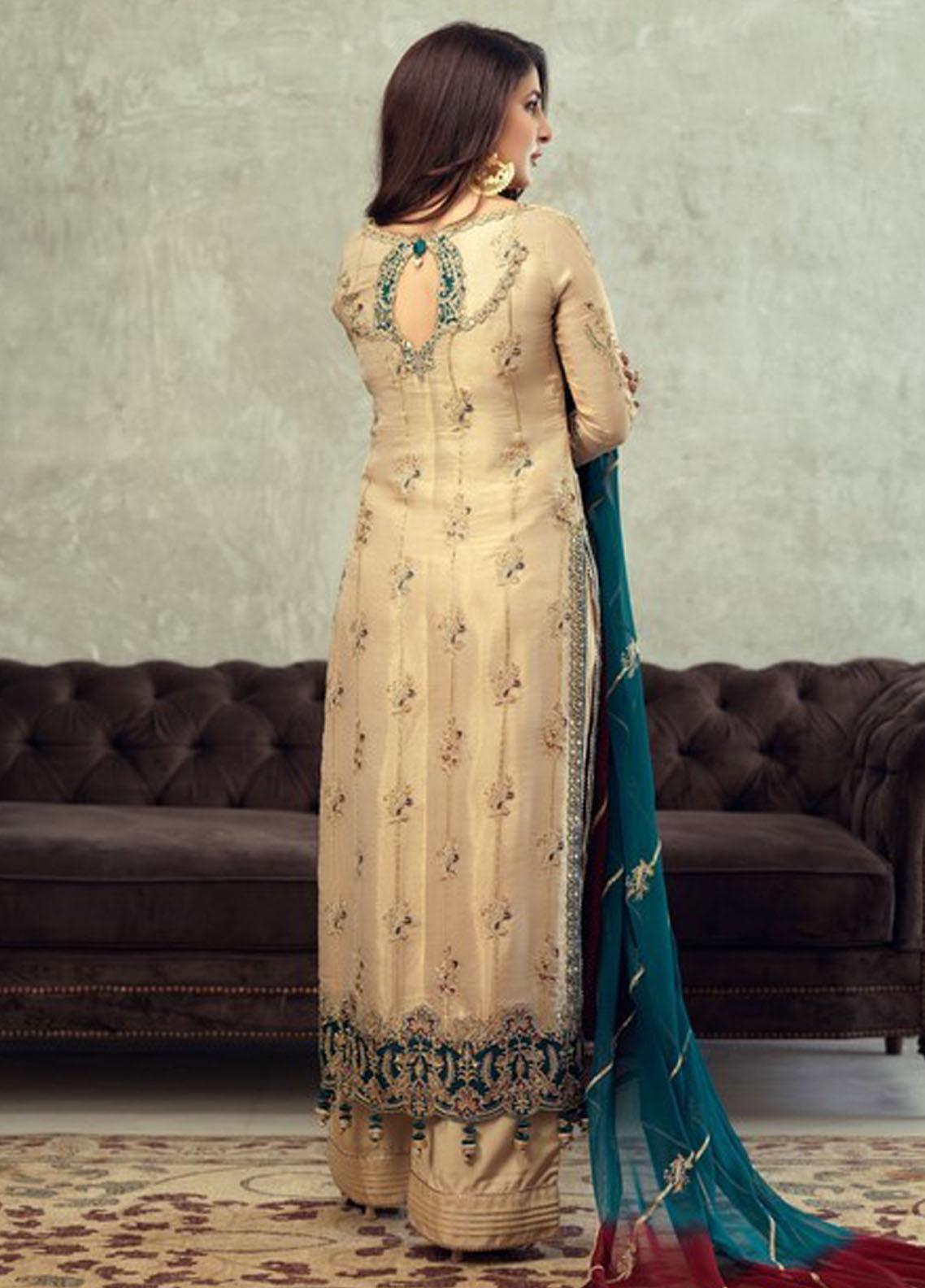 Asim Jofa Embroidered Masoori Suit Unstitched 3 Piece 2021 22 – Festive Collection