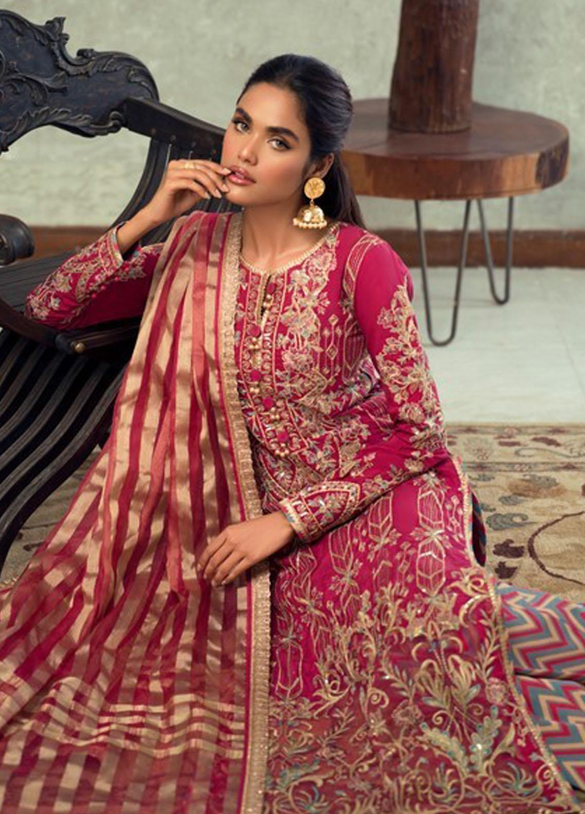 Asim Jofa Embroidered Raw Silk Suit Unstitched 3 Piece 2021 23 – Festive Collection