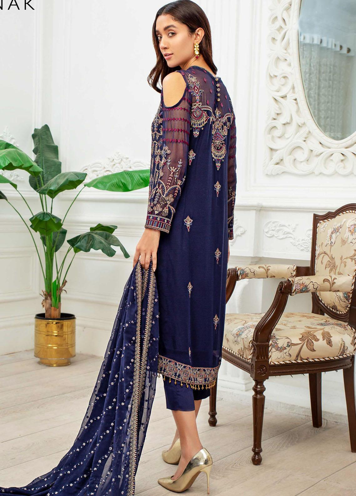 Dastoor by Zarif Embroidered Chiffon Suit Unstitched 3 Piece 09 – Luxury Collection
