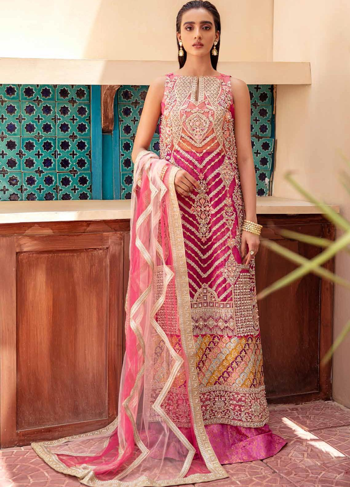 Freesia By Maryum N Maria Embroidered Chiffon Suit Unstitched 3 Piece 01 – Wedding Collection