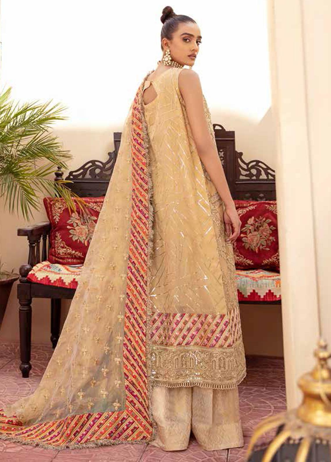 Freesia By Maryum N Maria Embroidered Chiffon Suit Unstitched 3 Piece 06 – Wedding Collection