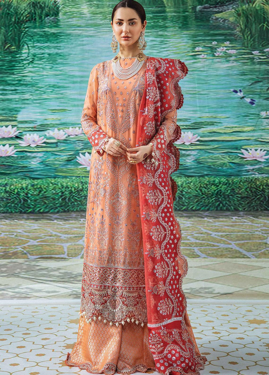 Shehnai by Afrozeh Embroidered Chiffon Suit Unstitched 3 Piece 06 TABASSUM – Wedding Collection