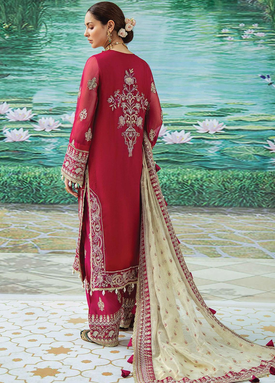 Shehnai by Afrozeh Embroidered Chiffon Suit Unstitched 3 Piece 09 NELOFERI – Wedding Collection