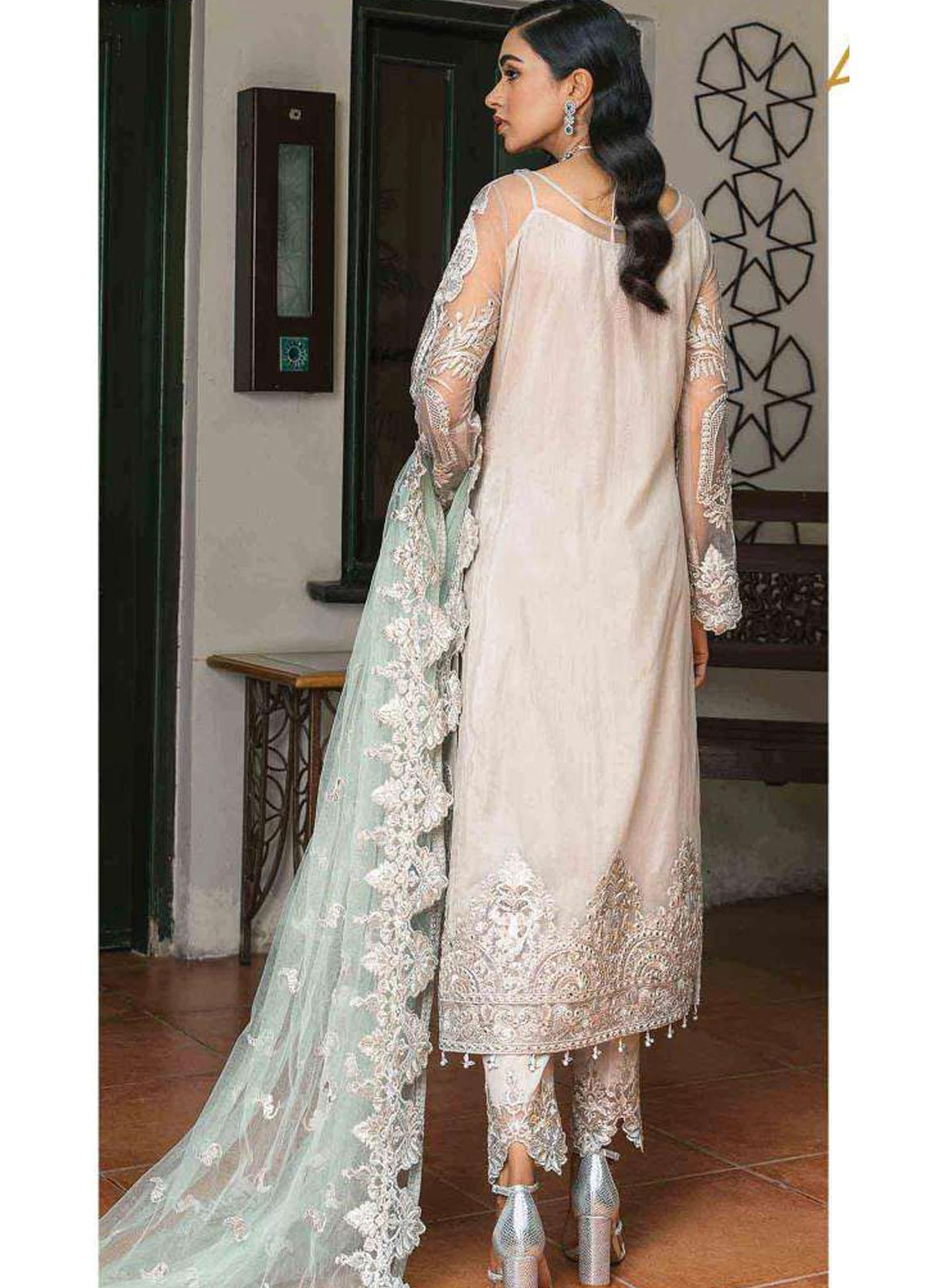 Suraj Garh by Imrozia Premium Embroidered Net Suit Unstitched 3 Piece I-139 AAYNA – Wedding Collection