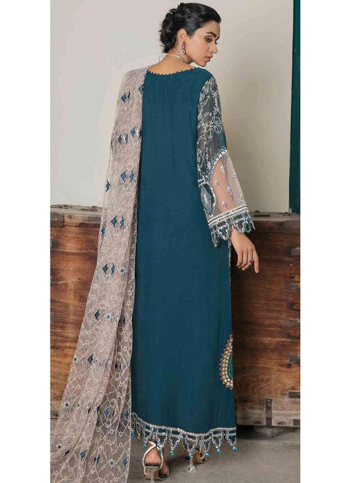 Suraj Garh by Imrozia Premium Embroidered Chiffon Suit Unstitched 3 Piece I-142 ZOHRA – Wedding Collection