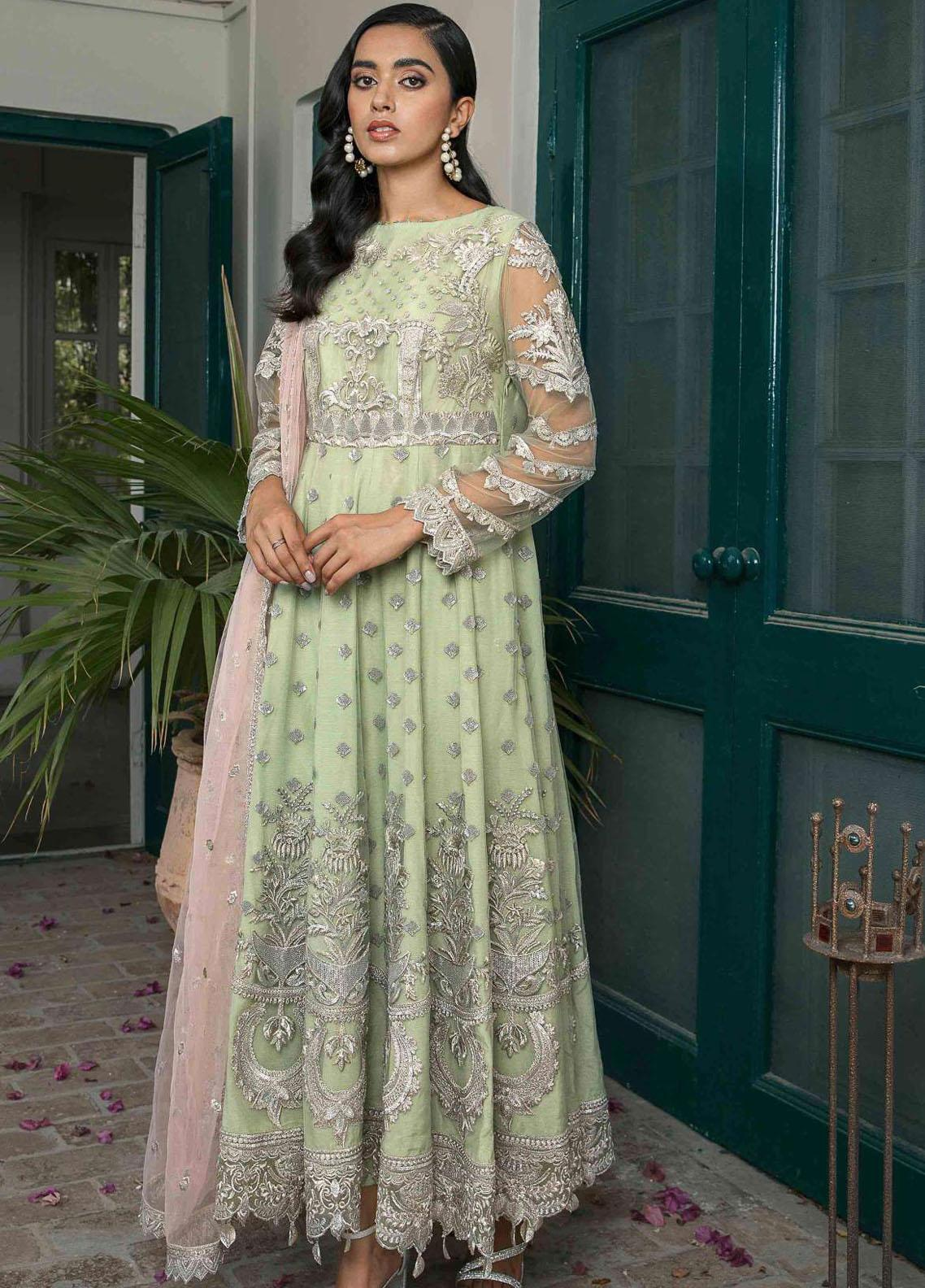 Suraj Garh by Imrozia Premium Embroidered Net Suit Unstitched 3 Piece I-143 BANO – Wedding Collection