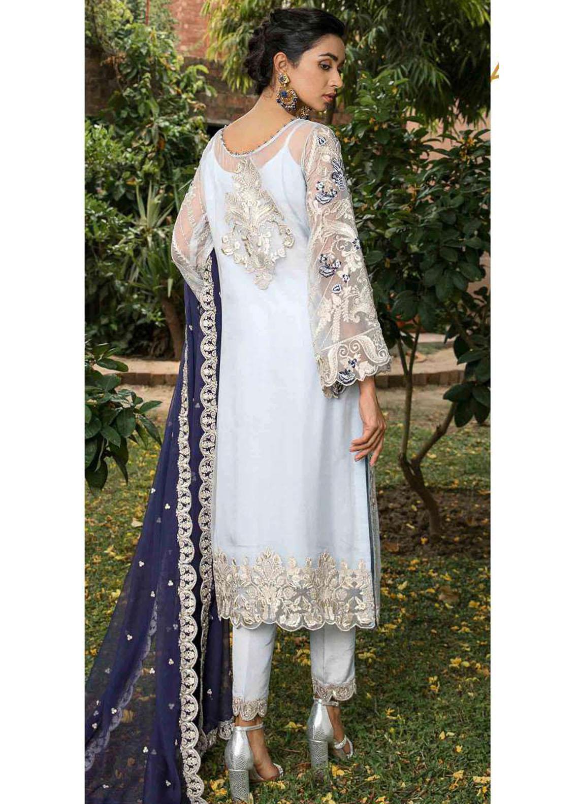 Suraj Garh by Imrozia Premium Embroidered Chiffon Suit Unstitched 3 Piece I-147 SURMAI BAHAR – Wedding Collection