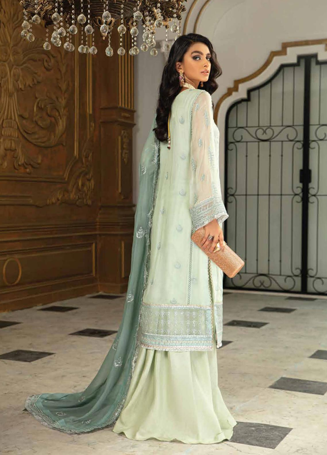 Roheenaz Embroidered Chiffon Suit Unstitched 3 Piece 02 – Luxury Collection