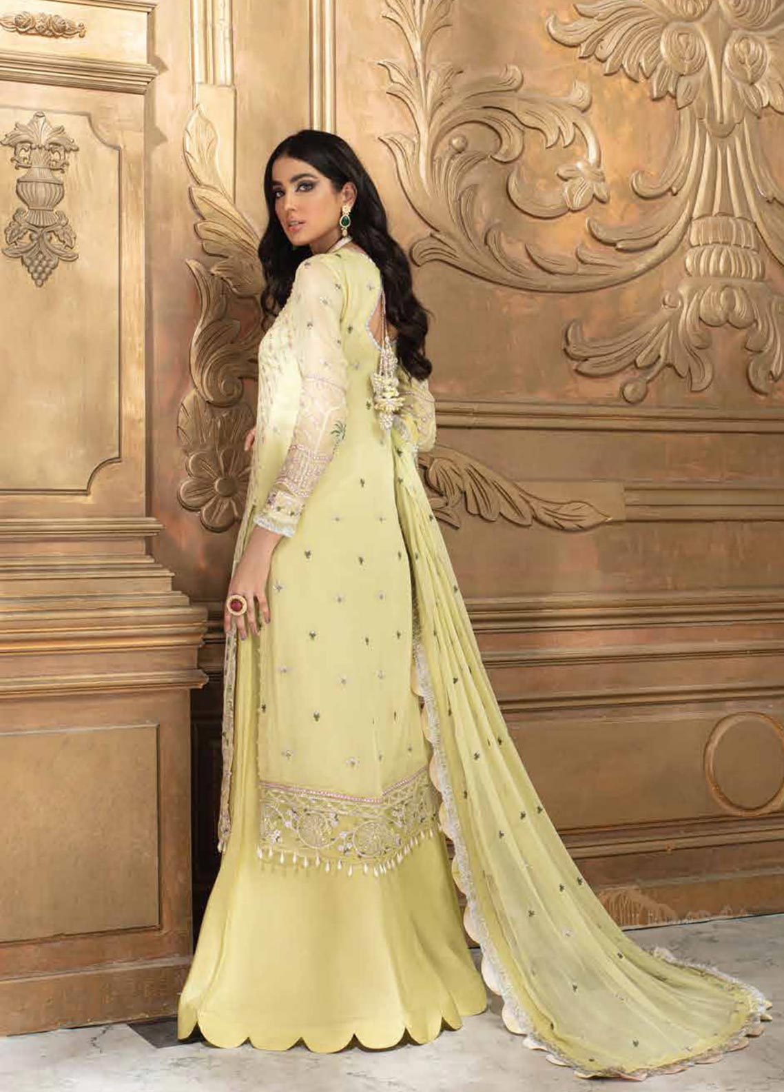 Roheenaz Embroidered Chiffon Suit Unstitched 3 Piece 05 – Luxury Collection