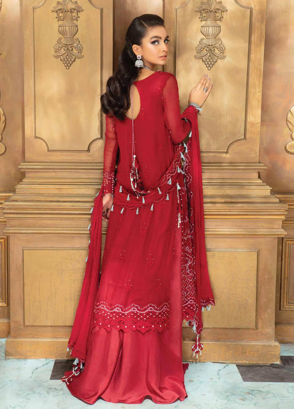 Roheenaz Embroidered Chiffon Suit Unstitched 3 Piece 06 – Luxury Collection