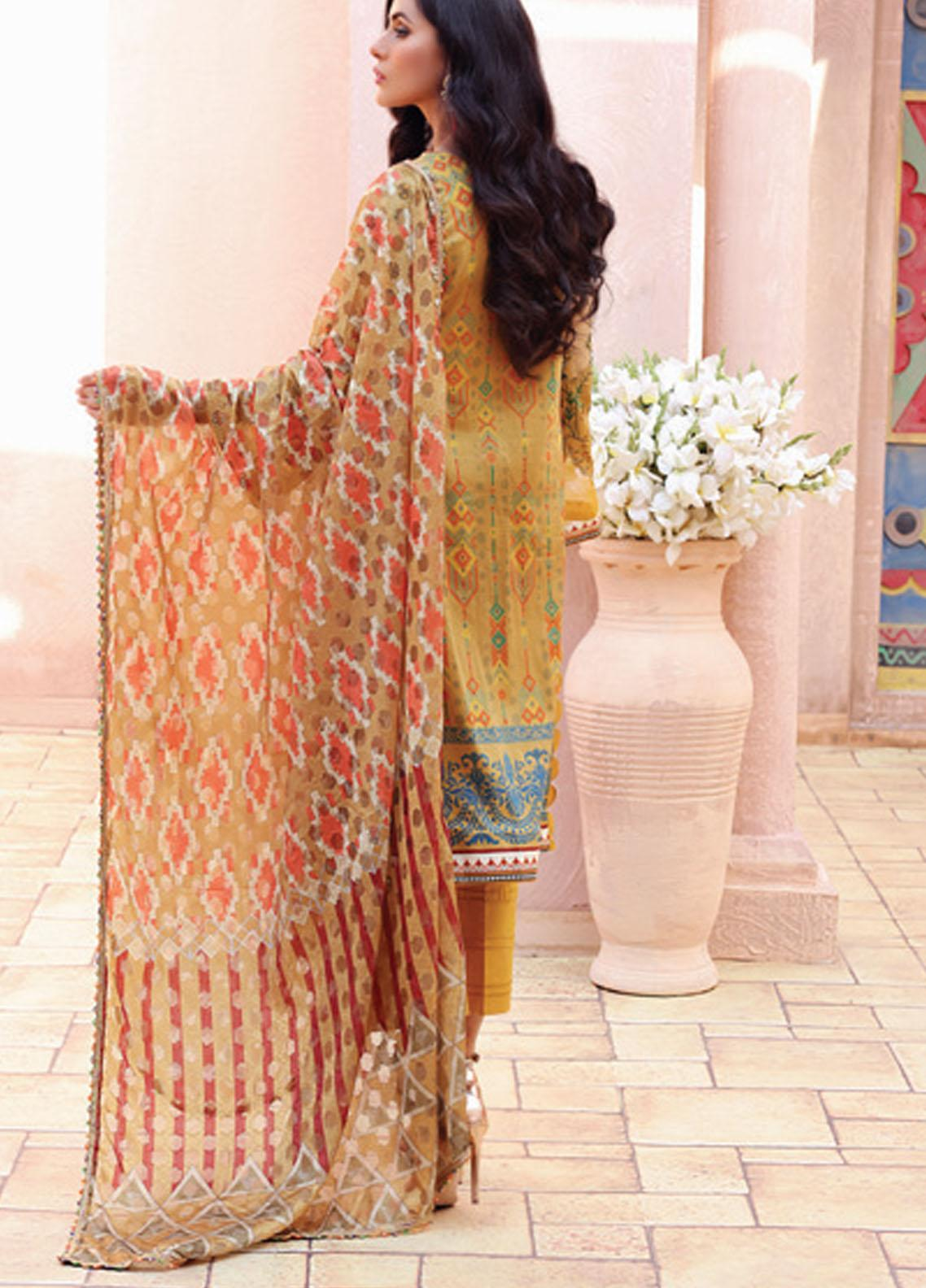 Festive Hues By Al Zohaib Embroidered Lawn Suit Unstitched 3 Piece 05 – Summer Collection