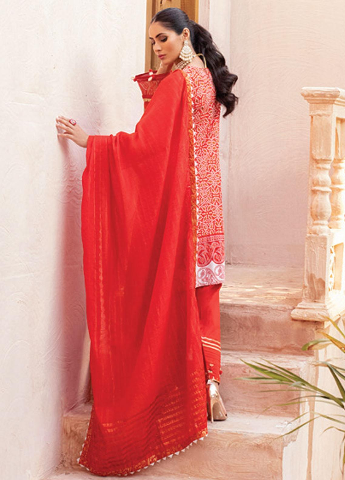 Festive Hues By Al Zohaib Embroidered Lawn Suit Unstitched 3 Piece 08 – Summer Collection