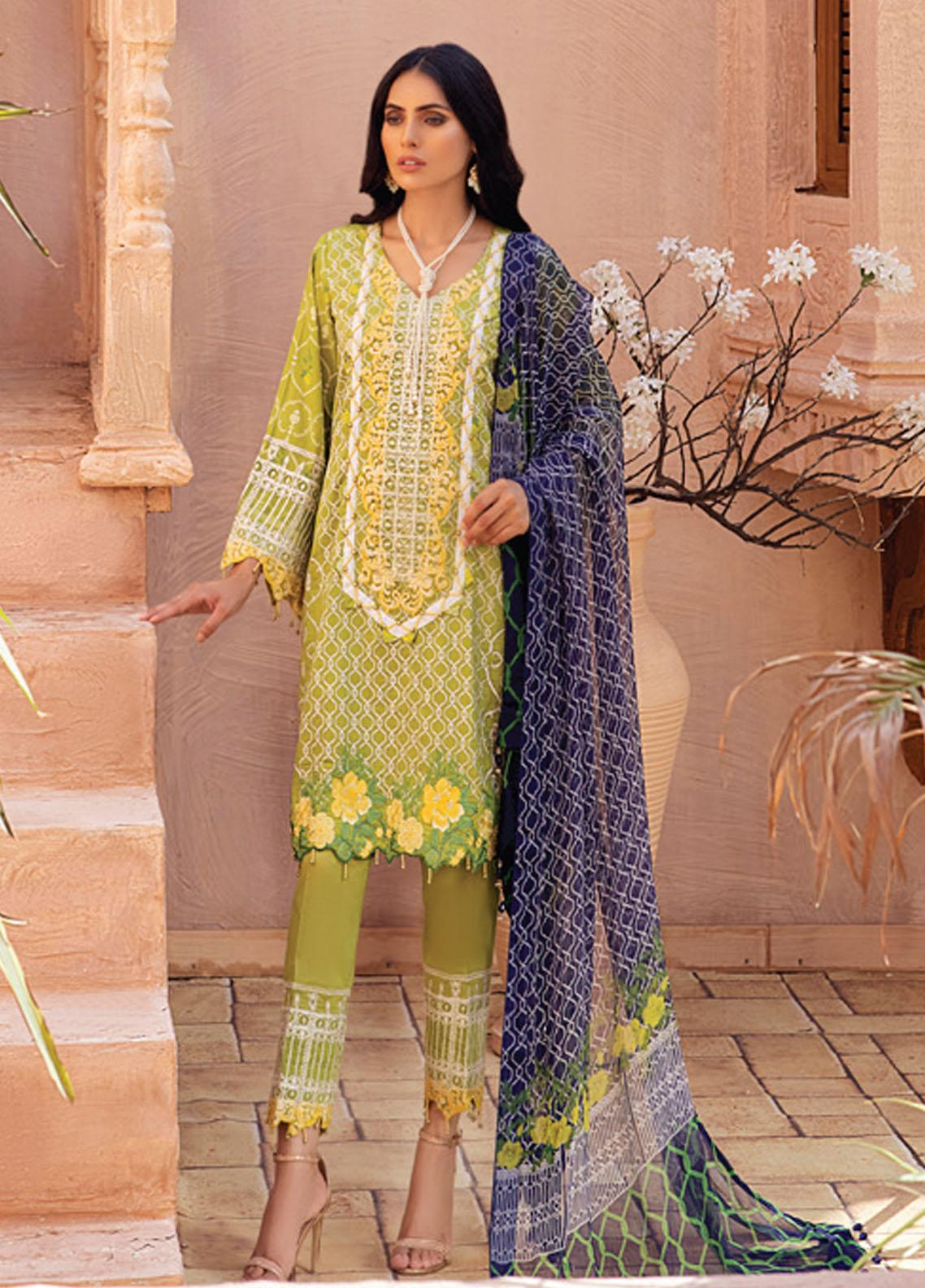 Festive Hues By Al Zohaib Embroidered Lawn Suit Unstitched 3 Piece 09 – Summer Collection