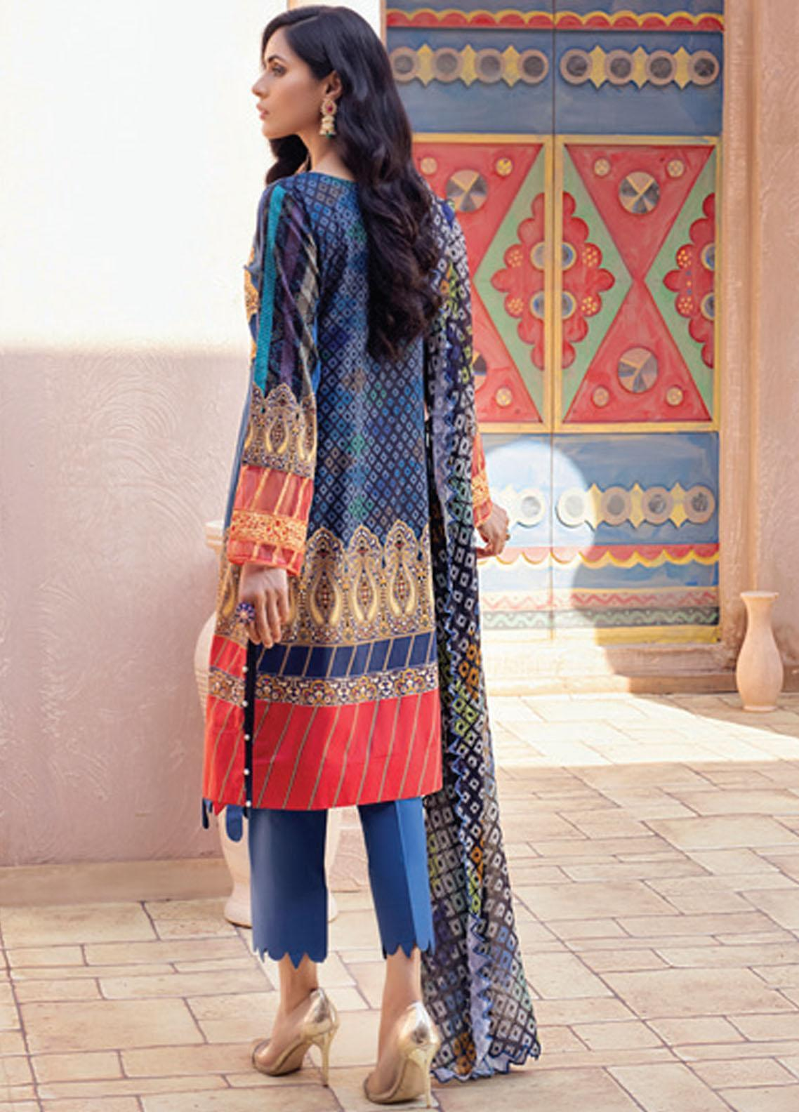 Festive Hues By Al Zohaib Embroidered Lawn Suit Unstitched 3 Piece 12 – Summer Collection