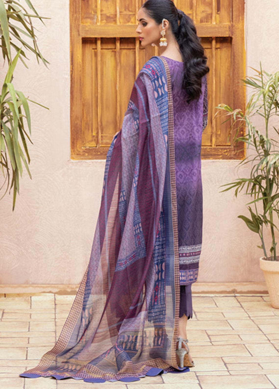 Festive Hues By Al Zohaib Embroidered Lawn Suit Unstitched 3 Piece 13 – Summer Collection