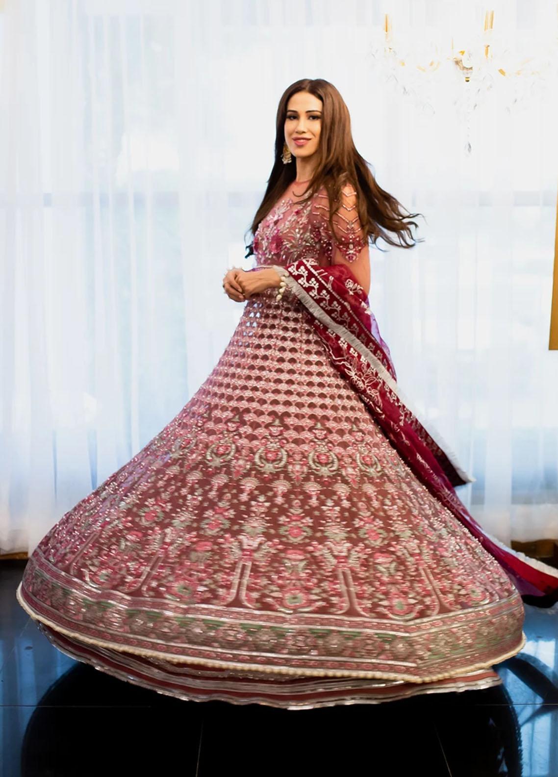 Marwa by Maryam Hussain Embroidered Net Suit Unstitched 3 Piece 08 MEHROZ – Luxury Collection