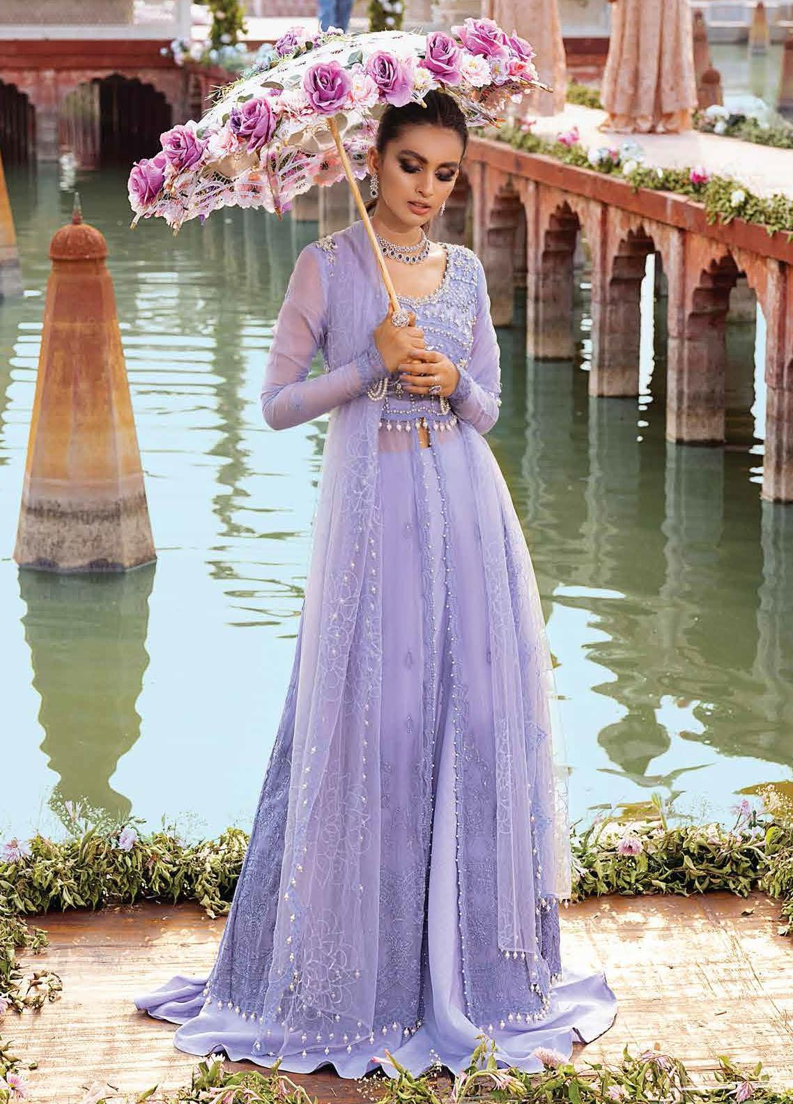 Mushq Embroidered Chiffon Suit Unstitched 3 Piece 02 GUL BAHAAR – Luxury Collection