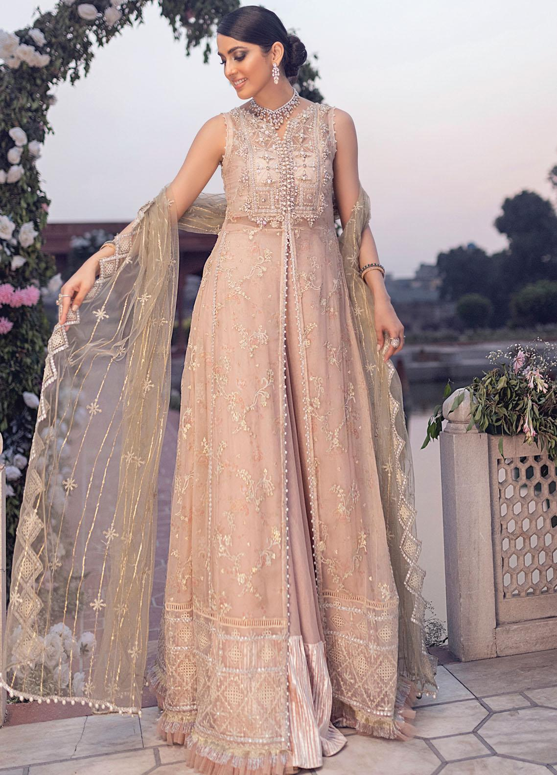 Mushq Embroidered Chiffon Suit Unstitched 3 Piece 06 DAHALIA – Luxury Collection
