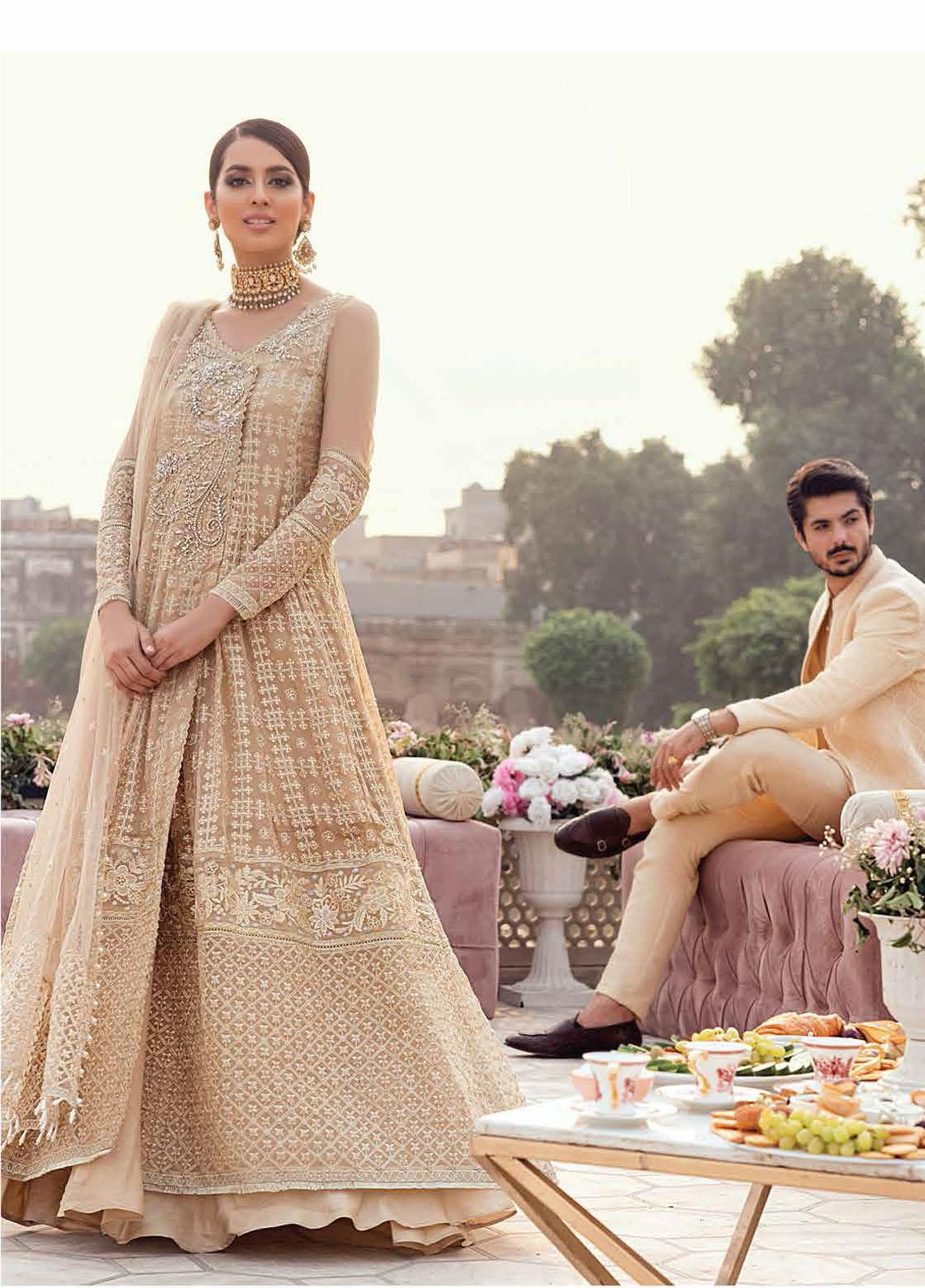 Mushq Embroidered Chiffon Suit Unstitched 3 Piece 09 CHAMELI – Luxury Collection