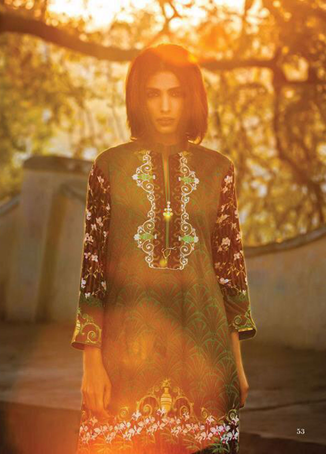 Al Zohaib Wintery Breeze Embroidered Linen Unstitched 2 Piece Suit 03A – Winter Collection